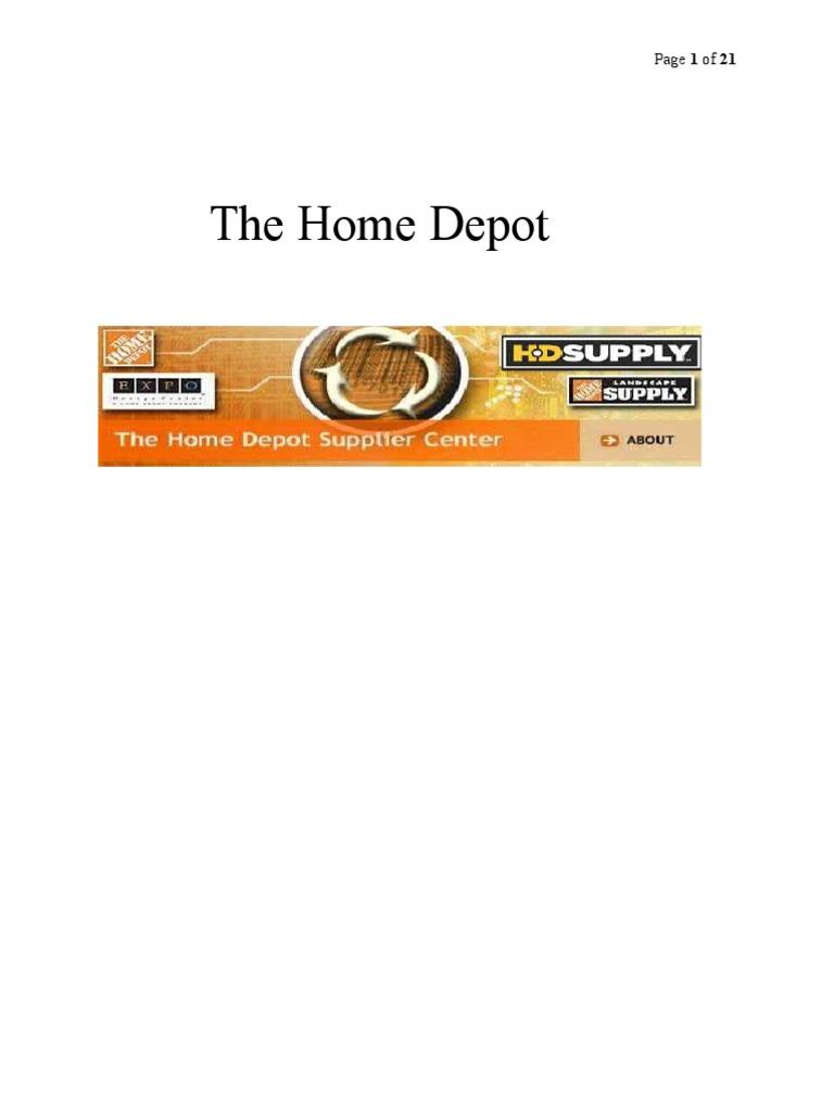 Homedepot case study the home depot strategic management malvernweather Choice Image