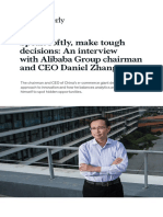 Speak Softly Make Tough Decisions an Interview With Alibaba CEO Daniel Zhang VF