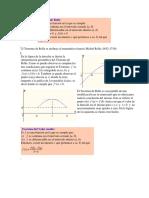 1.Teorema de Rolle y Teorema Valor Medio