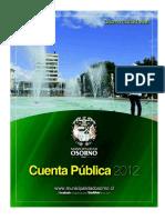 Cuenta Public a 2012