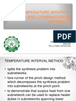 Temperature Interval Methods and Combinatorials