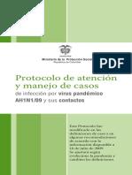 Protocolo de Atención y Manejo de Casos Ah1n1