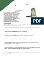 Figurative Language Poem 3 the Grave by Robert Blair