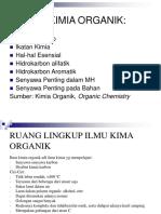 1. Ruang Lingkup Ilmu Kima Organik