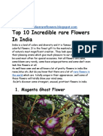 Top 10 incredible rare flowers in India