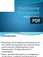 Wk 3 -Warehousing