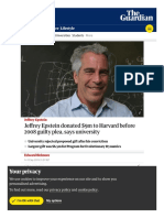 372. Jeffrey Epstein Harvard Donations - Evolutionary Dynamics