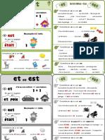 Regle Exercices Orthographe Et Est Ce1