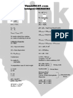 Chemistry Formulas 11-1-2010