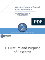 1. AE 701c Nature and Purpose of Research Statistics and Research