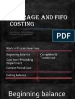 3. Chapter 10 Average and FIFO Costing
