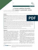 Floseal - Human Thrombin - Gelatin Matrix - Review