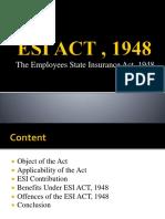 Esi Act , 1948