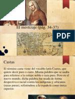 El mestizaje (pág. 34-37)