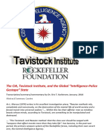 The CIA Tavistock Institute and the Global