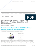 Selina Concise Physics Class 8 ICSE Solutions - Physical Quantities and Measurement - A Plus Topper