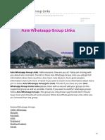 Whatsappgrouplink.org-Asia Whatsapp Group Links