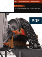 Conveyor belt Cleaner types & Classification