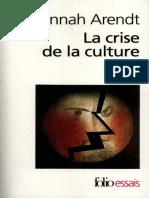 crise de la culture