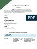 Investment Analysis and Portfolio Management