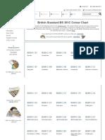 British Standard BS381C COLOUR CHART for Paints