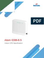 Baicells Atom ID06-6.5 Indoor CPE Specification-V1.2
