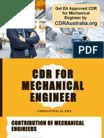 CDR for Mechanical Engineer Australia by CDRAustralia.org