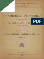 Expunerea situaţiunii Ministerului Lucrărilor Publice la finele anului 1897. Volumul 2 - Şosele Judeţene, vicinale şi comunale. Tomul 3 - Prahova - Vlaşca