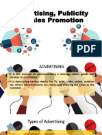 Advertising, Publicity & Sales Promotion