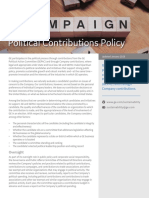 GEA33643 Political Contributions Policy R8
