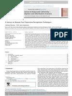 A Survey on Human Face Expression Recognition Techniques