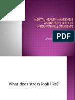 Mental Health Awareness Workshop for Eecs International Students
