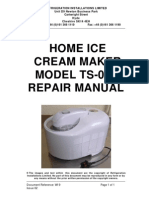 Ice Cream Maker Repair Manual TS 009 Repair Manual