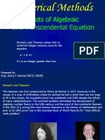 5. Roots of Algebraic and Trancendental Equations 1a