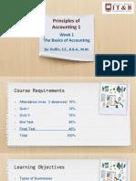 Principles of Accounting 1 Week 1 Materials