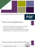 Agencies Tasked With PFA