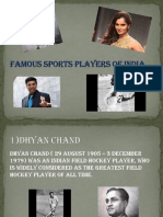 Famous Sprts Player of India