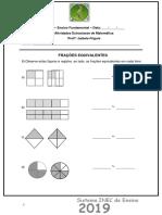 Atividade 5 Extra Classe de Matemaatica Fraçoes Equivalentes
