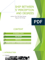 Relationship Between Parents' Perception and Degrees