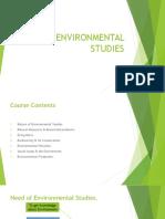Nature of Environmental Studies