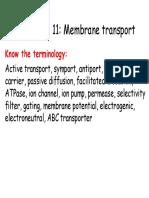 11 Membrane Transport