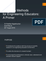 Research Methods for Engineering Educators
