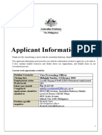 MNL - Applicant Information Pack Home Affairs - LE3 Visa Processing Officer Jan 2018
