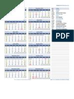 Calendario 2018 Uma Pagina
