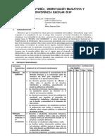 PLAN DE TUTORÍA, ORIENTACIÓN EDUCATIVA Y CONVIVENCIA ESCOLAR 2019