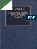 George Edward Moore (Traducción de Carlos Solís) - Defensa del sentido común y otros ensayos-Orbis (1983).pdf