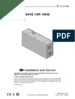 VSR 150 Installation and Service