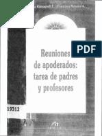 Romagnoli, Caludia; Morales, Francisca - Reuniones de Apoderados