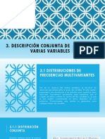 3. Descripcion Conjunta de Varias Variables