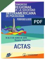 Memorias del Congreso Regional de Psicología -Rosario 2016